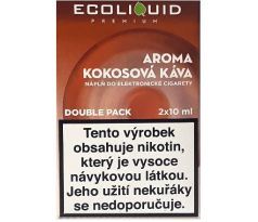 Liquid Ecoliquid Premium 2Pack Coconut Coffee 2x10ml - 0mg