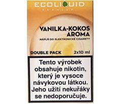 Liquid Ecoliquid Premium 2Pack Vanilla Coconut 2x10ml - 0mg